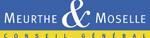Logo du partenaire conseil général de Meurthe-et-Moselle, un rectangle bleu sur une ligne jaune