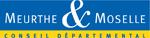 Logo du conseil départemental de Meurthe-et-Moselle, un rectangle bleu sur une ligne jaune